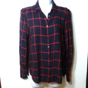 Loft Square Shirt Black and Red